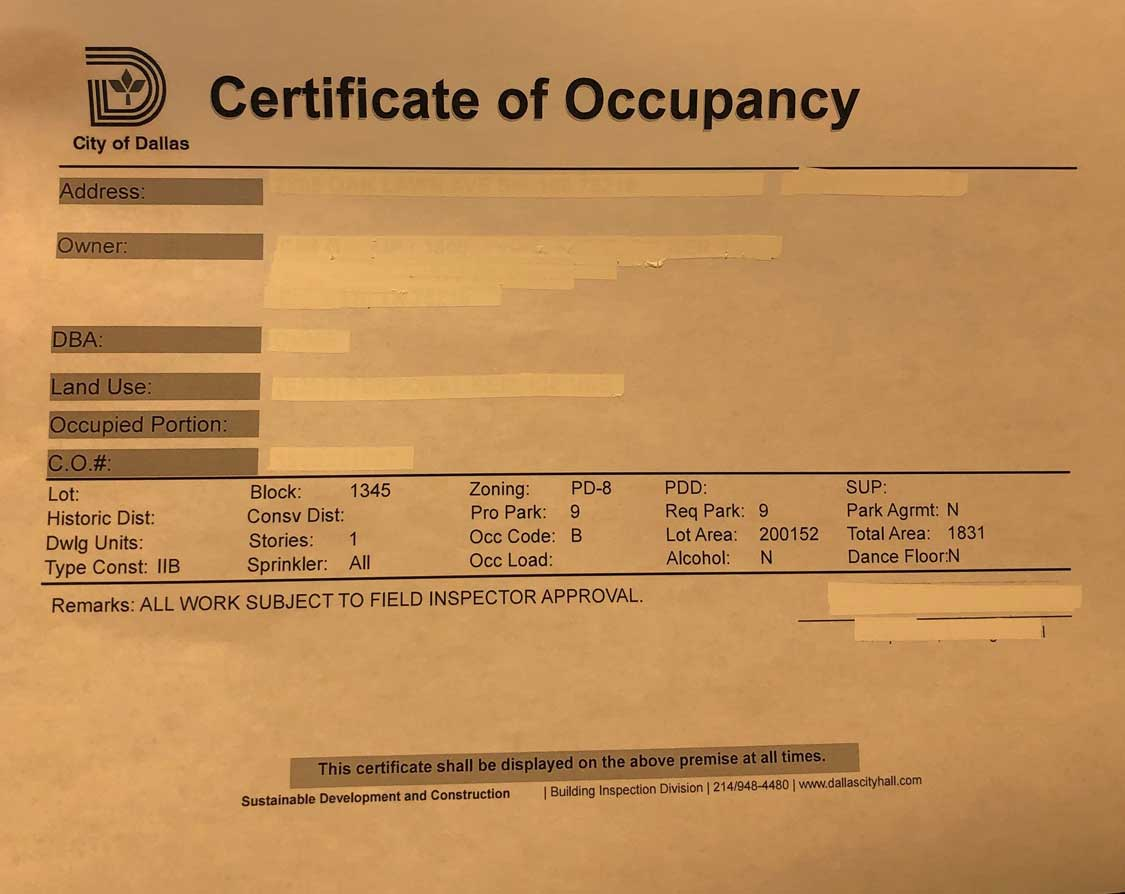 What Is a Certificate of Occupancy?