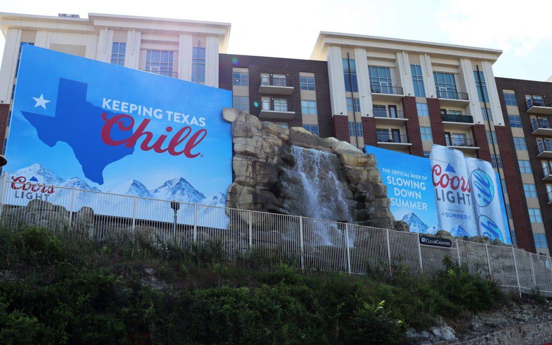 Historic Waterfall Billboard Making a Splash Since 1962